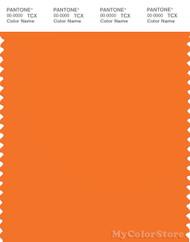PANTONE SMART 16-1356X Color Swatch Card, Persimmon Orange