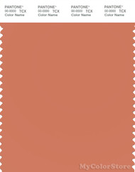 PANTONE SMART 16-1435X Color Swatch Card, Carnelian