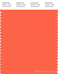 PANTONE SMART 16-1451X Color Swatch Card, Nasturtium
