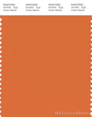 PANTONE SMART 16-1454X Color Swatch Card, Jaffa Orange