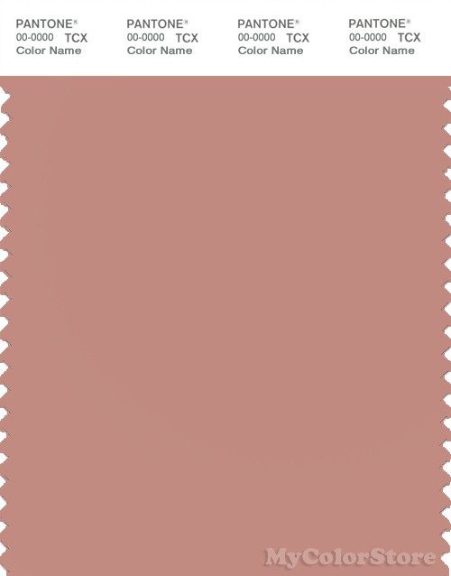 Pantone Smart 16 1516 Tcx Color Swatch Card Pantone Cameo Brown