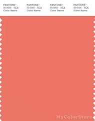 PANTONE SMART 16-1539X Color Swatch Card, Coral