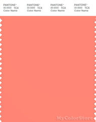 PANTONE SMART 16-1543X Color Swatch Card, Fusion Coral