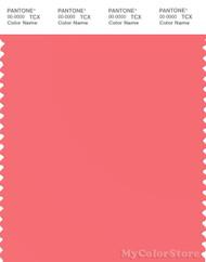 PANTONE SMART 16-1640X Color Swatch Card, Sugar Coral