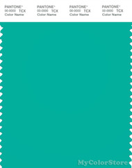 PANTONE SMART 16-5425X Color Swatch Card, Pool Green