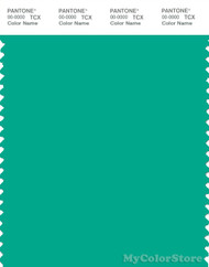 PANTONE SMART 16-5431X Color Swatch Card, Peacock Green