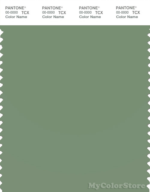 PANTONE SMART 17-0210X Color Swatch Card, Loden Frost