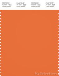 PANTONE SMART 17-1360X Color Swatch Card, Celosia Orange