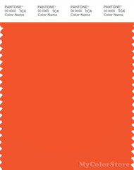 PANTONE SMART 17-1462X Color Swatch Card, Flame