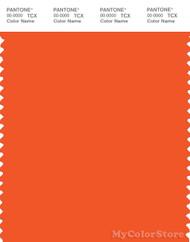 PANTONE SMART 17-1464X Color Swatch Card, Red Orange