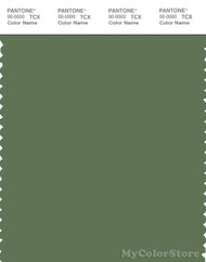 PANTONE SMART 18-0117X Color Swatch Card, Vineyard Green