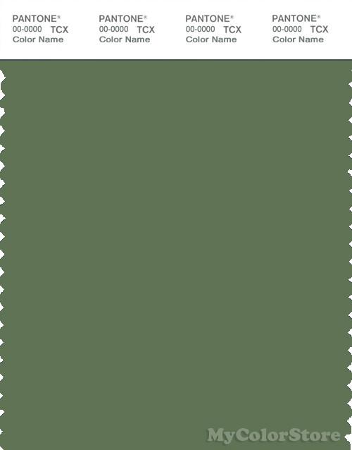 PANTONE SMART 18-0117X Color Swatch Card, Vineyard Green