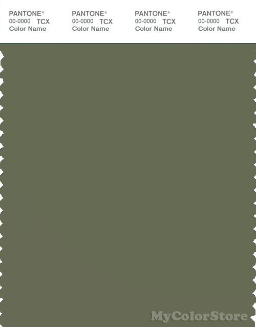 PANTONE SMART 18-0316X Color Swatch Card, Bluish Olive