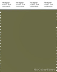 PANTONE SMART 18-0527X Color Swatch Card, Deep Olive