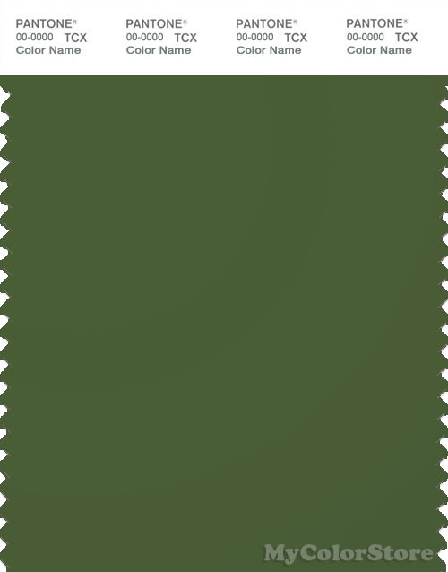 PANTONE SMART 19-0230X Color Swatch Card, Garden Green