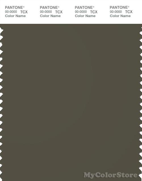 PANTONE SMART 19-0511X Color Swatch Card, Iris Leaf