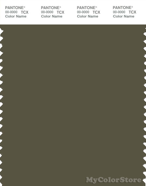 PANTONE SMART 19-0512X Color Swatch Card, Ivy Green