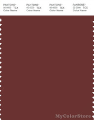PANTONE SMART 19-1331X Color Swatch Card, Madder Brown