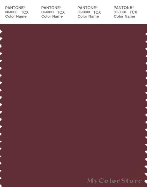 PANTONE SMART 19 1526X Color Swatch Card Dark Red Brown