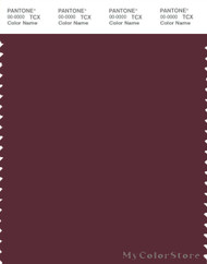 PANTONE SMART 19-1528X Color Swatch Card, Windsor Wine