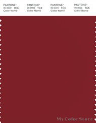 PANTONE SMART 19-1555X Color Swatch Card, Red Dahlia