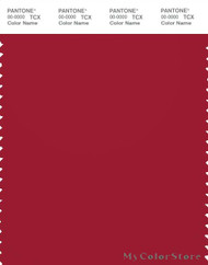 PANTONE SMART 19-1557X Color Swatch Card, Chili Pepper