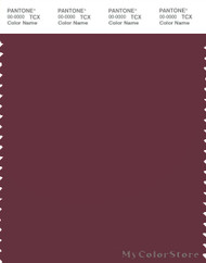 PANTONE SMART 19-1617X Color Swatch Card, Burgundy