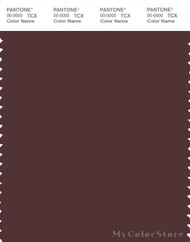PANTONE SMART 19-1625X Color Swatch Card, Decadent Chocolate