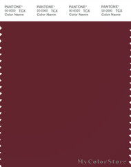 PANTONE SMART 19-1724X Color Swatch Card, Cabernet