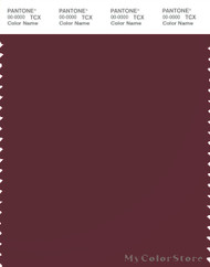 PANTONE SMART 19-1725X Color Swatch Card, Tawny Port