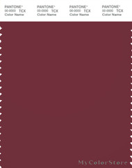 PANTONE SMART 19-1726X Color Swatch Card, Cordovan