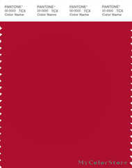 PANTONE SMART 19-1761X Color Swatch Card, Tango Red