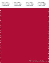 PANTONE SMART 19-1762X Color Swatch Card, Crimson