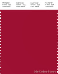 PANTONE SMART 19-1862X Color Swatch Card, Jester Red
