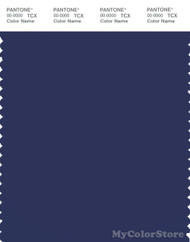 PANTONE SMART 19-3939X Color Swatch Card, Blue Print