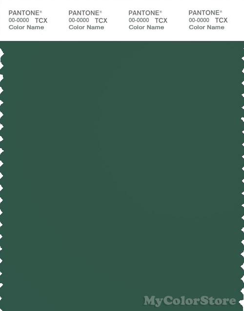 PANTONE SMART 19-5511X Color Swatch Card, Hunter Green