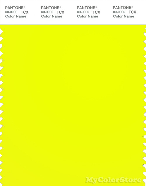 Neon Yellow Paint Color
