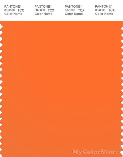 PANTONE SMART 15-1360TN Color Swatch Card, Shocking Orange