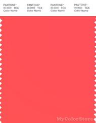 PANTONE SMART 15-1456TN Color Swatch Card, Fiery Coral
