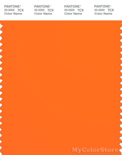 PANTONE SMART 15-1460TN Color Swatch Card, Orange Clown Fish