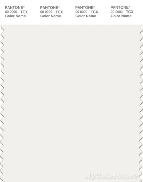 PANTONE SMART 11-0602X Color Swatch Card, Snow White