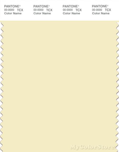 PANTONE SMART 11-0617X Color Swatch Card, Transparent Yellow