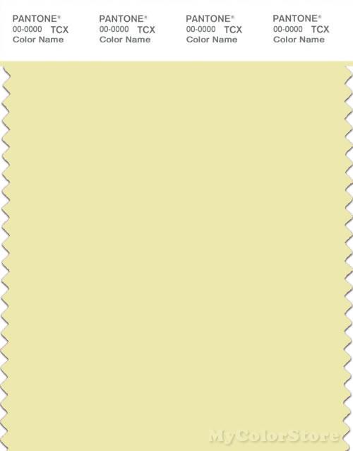 PANTONE SMART 11-0618X Color Swatch Card, Wax Yellow