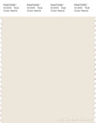 PANTONE SMART 11-0701X Color Swatch Card, Whisper White