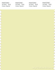PANTONE SMART 11-0710X Color Swatch Card, Tender Yellow