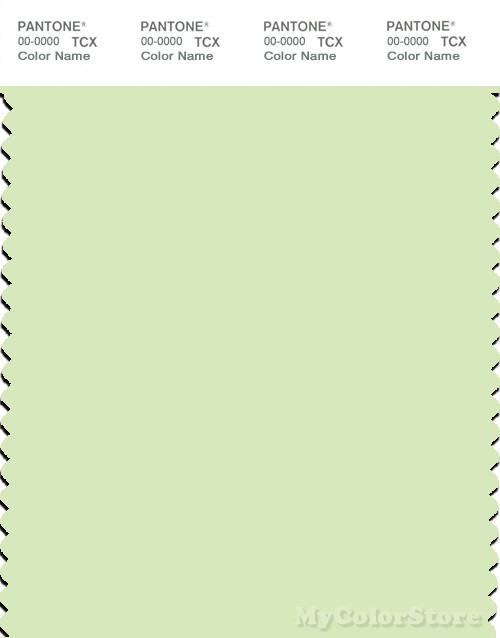 PANTONE SMART 12-0312X Color Swatch Card, Lime Cream