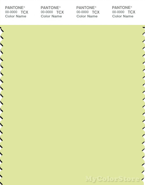 PANTONE SMART 12-0520X Color Swatch Card, Pale Lime Yellow