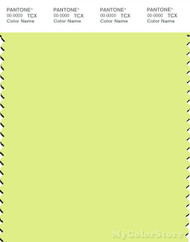 PANTONE SMART 12-0741X Color Swatch Card, Sunny Lime