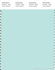 PANTONE SMART 12-5410X Color Swatch Card, Bleached Aqua