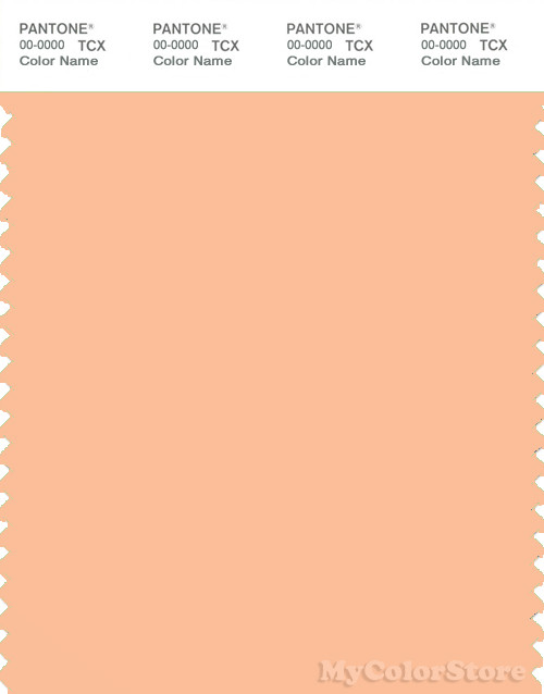 PANTONE SMART 13-1020X Color Swatch Card, Apricot Ice